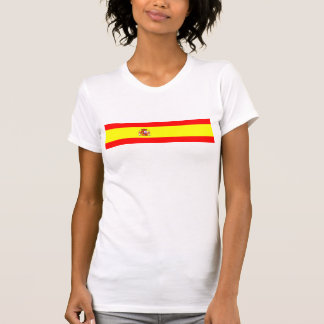 Símbolo español de la nación de la bandera de país t-shirt