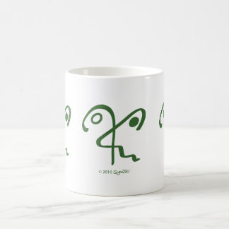 Símbolo esperanzado verde de SymTell Taza