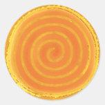 Símbolo espiral amarillo de Sun de nueve rayos Etiquetas