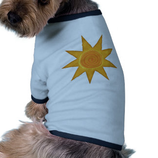 Símbolo espiral amarillo de Sun de nueve rayos Ropa Para Mascota