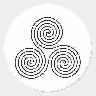 Símbolo espiral triple etiquetas
