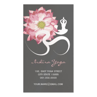 Símbolo espiritual rosado del logotipo de OM de la Plantilla De Tarjeta De Visita