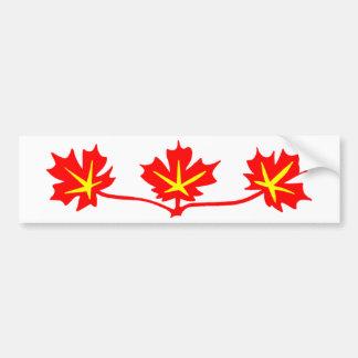 Símbolo estándar canadiense de las hojas de arce pegatina para auto