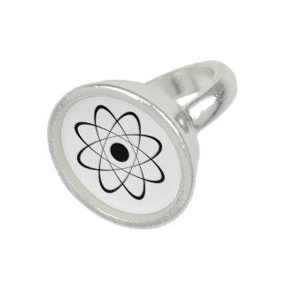 Símbolo estilizado del átomo anillos con foto