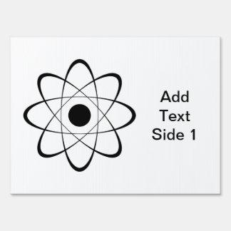 Símbolo estilizado del átomo cartel