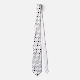 Símbolo estilizado del átomo corbata personalizada