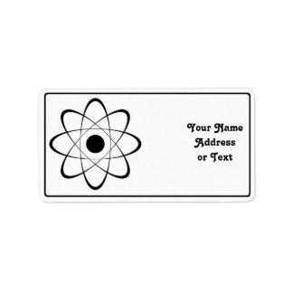 Símbolo estilizado del átomo etiqueta de dirección