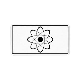 Símbolo estilizado del átomo etiquetas de dirección