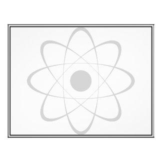 """Símbolo estilizado del átomo folleto 8.5"""" x 11"""""""