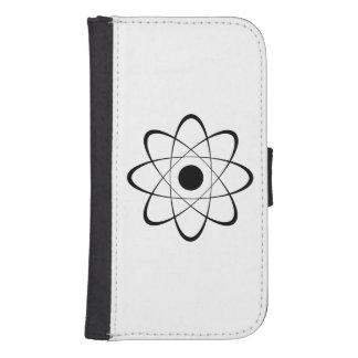 Símbolo estilizado del átomo funda tipo billetera para galaxy s4