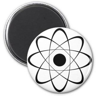 Símbolo estilizado del átomo imán redondo 5 cm