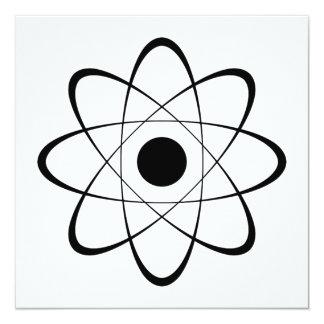 """Símbolo estilizado del átomo invitación 5.25"""" x 5.25"""""""