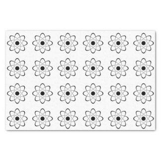 Símbolo estilizado del átomo papel de seda pequeño