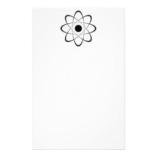 Símbolo estilizado del átomo  papeleria de diseño
