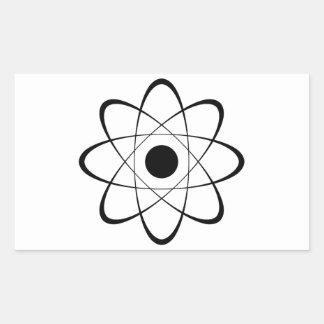 Símbolo estilizado del átomo rectangular pegatina
