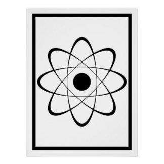 Símbolo estilizado del átomo perfect poster