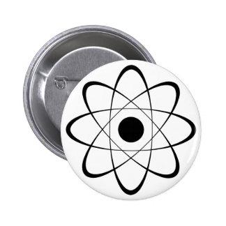Símbolo estilizado del átomo pin redondo de 2 pulgadas