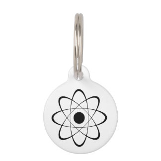 Símbolo estilizado del átomo placas para mascotas