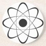 Símbolo estilizado del átomo posavasos personalizados