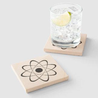 Símbolo estilizado del átomo posavasos de piedra