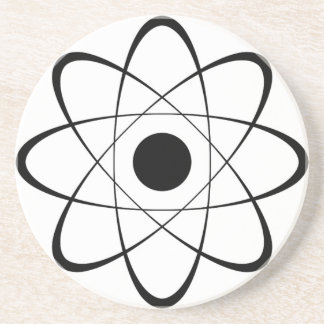 Símbolo estilizado del átomo posavasos diseño