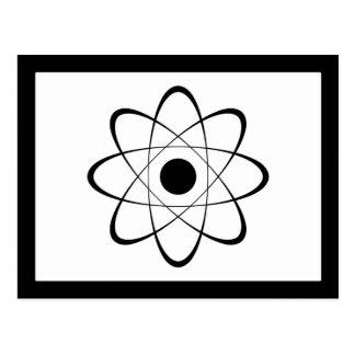 Símbolo estilizado del átomo postales