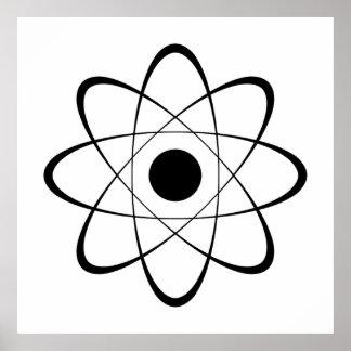 Símbolo estilizado del átomo póster