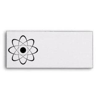 Símbolo estilizado del átomo sobres