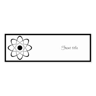 Símbolo estilizado del átomo tarjetas de visita mini