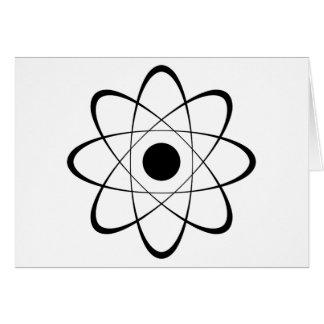 Símbolo estilizado del átomo tarjeta de felicitación