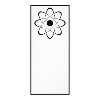"""Símbolo estilizado del átomo folleto publicitario 4"""" x 9"""""""