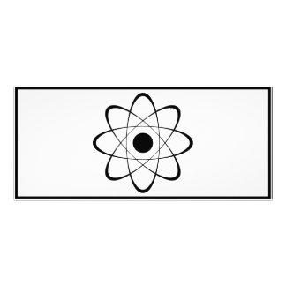 Símbolo estilizado del átomo tarjeta publicitaria personalizada