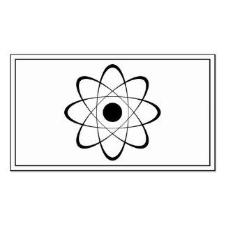 Símbolo estilizado del átomo tarjetas de visita