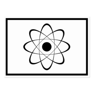 Símbolo estilizado del átomo tarjetas de visita grandes