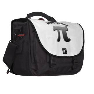 Símbolo feliz del día pi del pi para los empollone bolsas de portatil