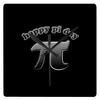 Símbolo feliz del día pi del pi para los empollone reloj