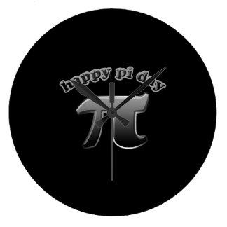 Símbolo feliz del día pi del pi para los empollone relojes