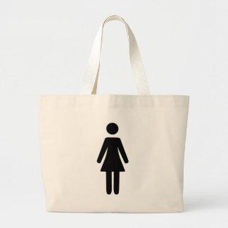 Símbolo femenino bolsa tela grande