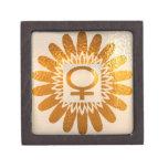 Símbolo femenino del icono: Energía de oro del gir Caja De Joyas De Calidad