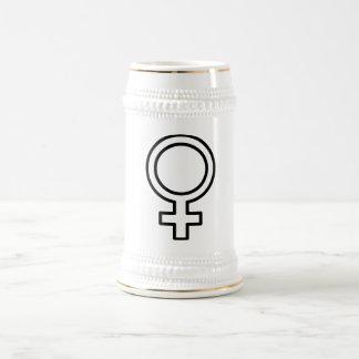 Símbolo femenino jarra de cerveza