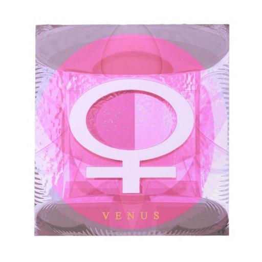 Símbolo femenino - las señoras son de Venus Libreta Para Notas