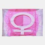 Símbolo femenino - las señoras son de Venus Toallas De Mano
