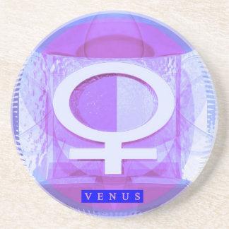 Símbolo femenino - las señoras son de Venus Posavasos Diseño