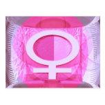 Símbolo femenino - las señoras son de Venus Postal