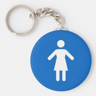 Símbolo femenino, llavero azul y blanco clásico