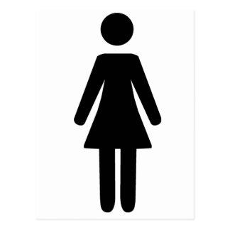 Símbolo femenino postales