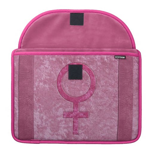 Símbolo femenino rosado funda para macbook pro