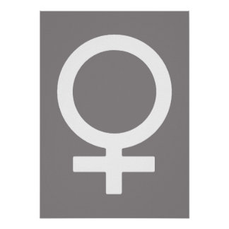Símbolo femenino Titanium Póster