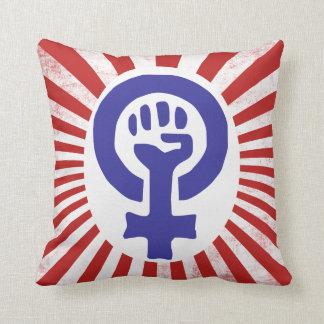 Símbolo feminista almohadas