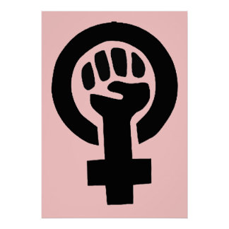 Símbolo feminista de la igualdad de género de la m posters